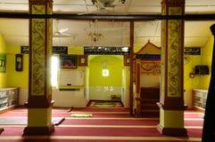 Interior of Masjid Kariah Dato' Undang Kamat Stock Photo