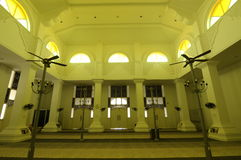 Interior of Masjid Sultan Ismail in Chendering, Terengganu Royalty Free Stock Photography