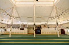 Interior of Masjid Tanjung Api at Kuantan, Malaysia Royalty Free Stock Photography