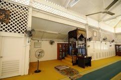 Interior of Masjid Tanjung Api at Kuantan, Malaysia Royalty Free Stock Image