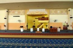 Interior of Masjid Universiti Putra Malaysia at Serdang, Selangor, Malaysia Stock Photography