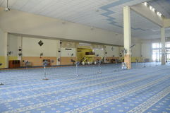 Interior of Masjid Universiti Putra Malaysia at Serdang, Selangor, Malaysia Royalty Free Stock Images