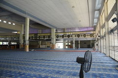 Interior of Masjid Universiti Putra Malaysia at Serdang, Selangor, Malaysia Royalty Free Stock Photography