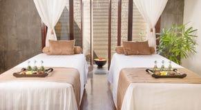 Massage room in spa salon. Interior of massage room in spa salon royalty free stock photos