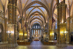 Interior of Matthias Church in Budapest, Hungary Stock Photo