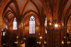 Interior of the Matthias Church, Budapest Stock Images