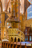Interior of the Matthias Church is a Roman Catholic church located in Budapest. BUDAPEST, HUNGARY - FEBRUARY 23, 2016: Interior of the Matthias Church is a Roman Royalty Free Stock Photo