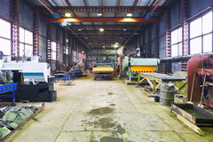 Interior of mechanical workshop Royalty Free Stock Photo