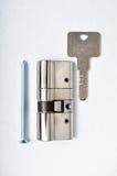 Interior mechanism of door locking Stock Photos