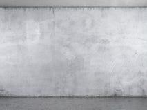 Interior med den vita murbrukväggen Arkivfoton