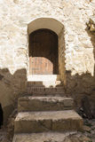 Interior of the medieval castle of the city of Consuegra in Tole Stock Photography