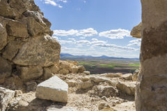 Interior of the medieval castle of the city of Consuegra in Tole Royalty Free Stock Photography