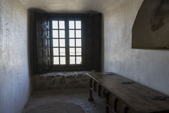 Interior of the medieval castle of the city of Consuegra in Tole Stock Photo