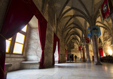 Interior of medieval castle Stock Photography