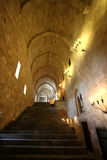 Interior of medieval castle Rhodes island Stock Image