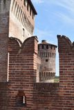 Interior of the Medieval Castle of Soncino - Cremona - Italy 04. View of the medieval castle of Soncino in the province of Cremona - Italy Royalty Free Stock Image