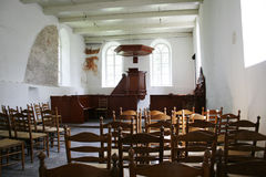 Interior of medieval church Royalty Free Stock Images