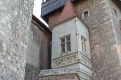 Interior of medieval Corvin Castle royalty free stock images