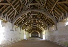 Interior medieval del granero, Bradford en Avon Fotografía de archivo