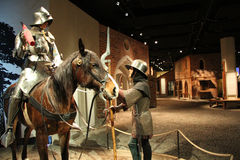 Interior medieval do museu de Éstocolmo fotos de stock
