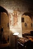 Medieval church interior, Italy Stock Photography