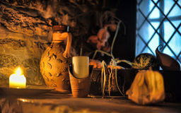 Interior medieval tavern, Royalty Free Stock Photography