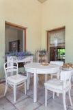 Interior mediterráneo - comedor Imagen de archivo libre de regalías