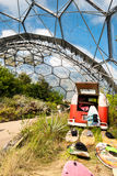 Interior of Mediterranean biome, Eden Project. Royalty Free Stock Photography