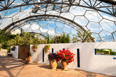 Interior of Mediterranean biome, Eden Project. Royalty Free Stock Image