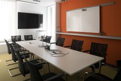 Interior of meeting room in moder office stock photography