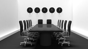 Interior of a meeting room Stock Images