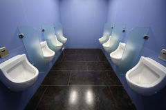 Interior of the mens room Royalty Free Stock Image