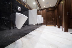 Interior of the mens room Royalty Free Stock Photography
