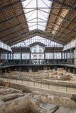 Interior of the Mercat del Born, a cultural centre in El Borne, Barcelona, Catalonia, Spain Stock Image