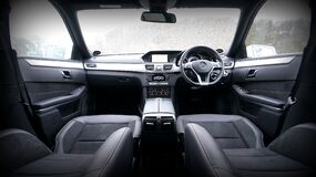 Interior of Mercedes Benz Royalty Free Stock Image