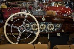 Interior of Mercedes-Benz 540K W24, 1939. Stock Images
