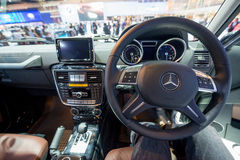 Interior of Mercedes Benz new G Class on display Royalty Free Stock Image