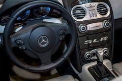 Interior of the Mercedes-Benz SLR McLaren. Stock Photography