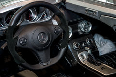 Interior of the Mercedes-Benz SLR Stirling Moss. Stock Photos