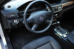 Interior of a Mercedes E 63 AMG Royalty Free Stock Images