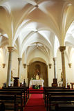 Interior of Mertola church. Royalty Free Stock Photos