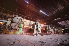 Interior metalúrgico da planta Imagens de Stock