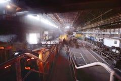 Interior metalúrgico da planta Fotografia de Stock