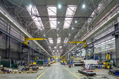 The interior metal manufacturing royalty free stock photo