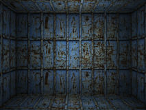 Interior metal rusty room Royalty Free Stock Photo