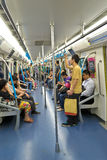 Interior of metro Stock Photography