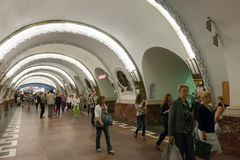 Interior of  metro station Royalty Free Stock Images