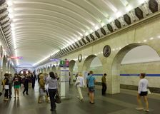 Interior of  metro station Stock Image