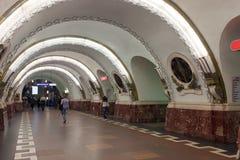 Interior of  metro station. ST. PETERBURG, RUSSIA - AUGUST 2: Metro station Ploshchad Vosstaniya in August 2, 2012 in St. Petersburg, Russia.  Station opened on Stock Images
