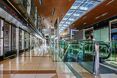 Interior metro station in Dubai UAE Royalty Free Stock Photography